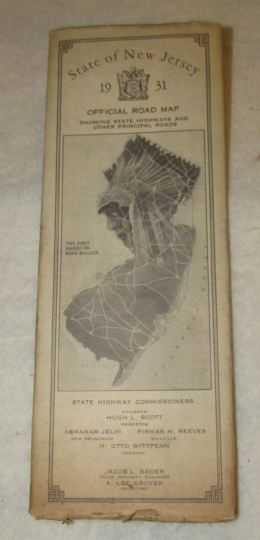 1931 NJ Road Map