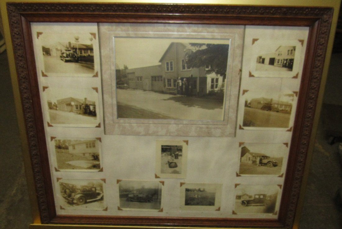 PITTSTOWN NJ FRAMED SERVICE STATION PHOTOS - 2