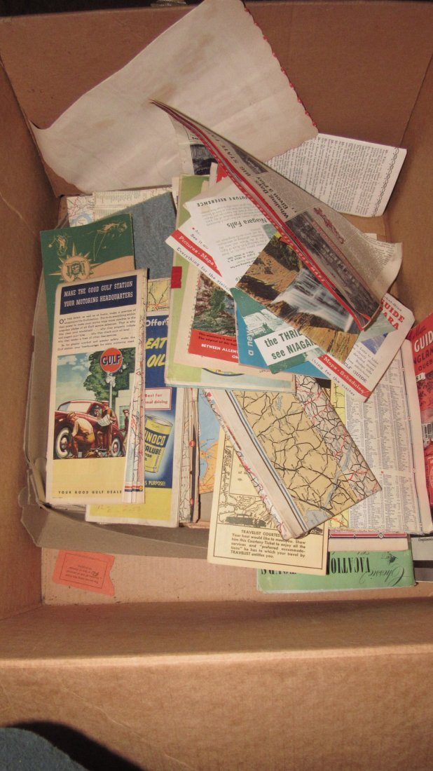 Lot of Gas Station Road Maps & Literature