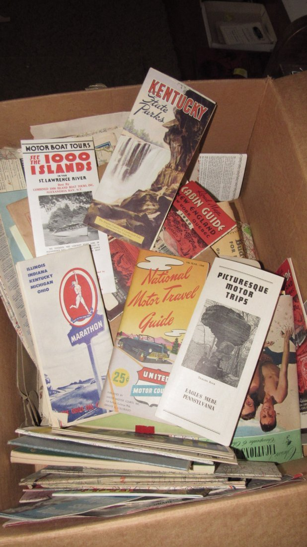 Lot of Gas Station Road Maps & Literature - 4
