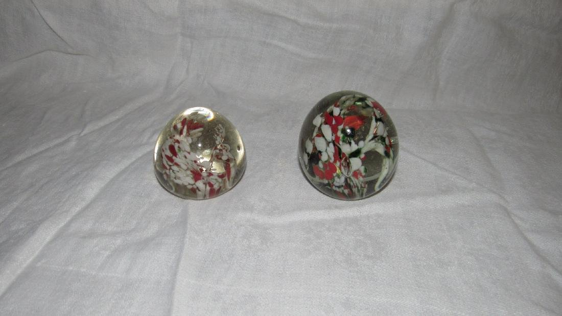 2 Millefiori Paperweights