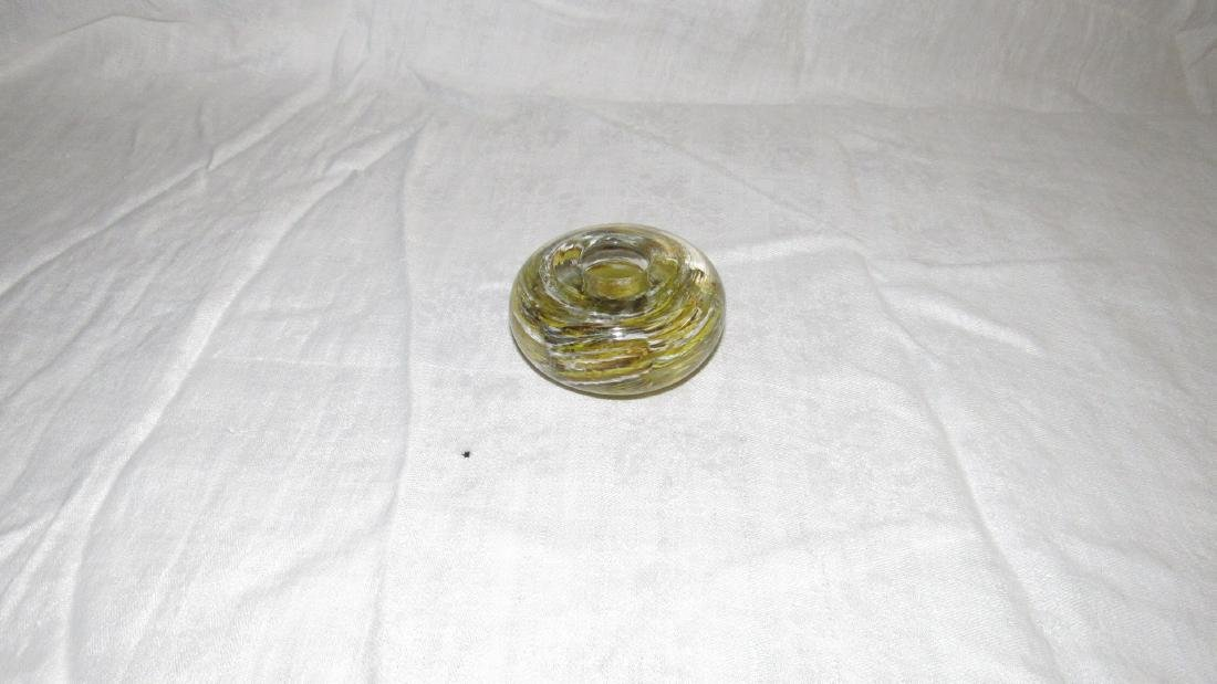 Antique Paperweight Candle Holder