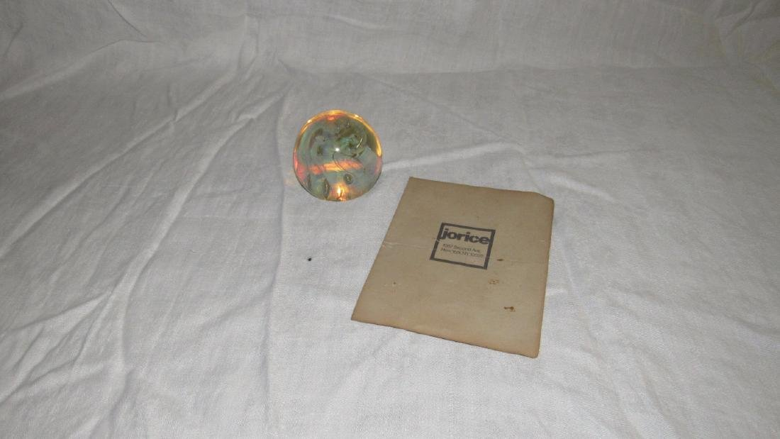 Josh Simpson 1979 Art Glass Paperweight