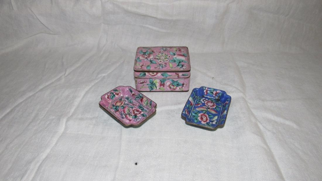 Enameled Cloisonne Trinket Tray Box
