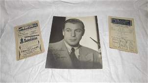 Gary Cooper Photo Mae West Playbill Autograph