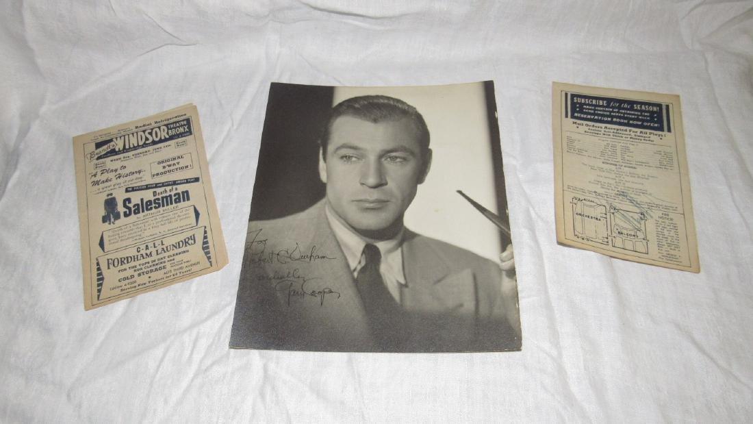 Gary Cooper Photo Mae West Playbill Autograph