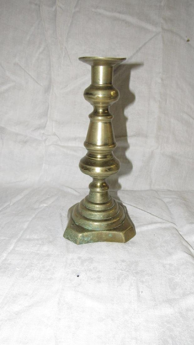Antique Brass Push Up Candle Stick