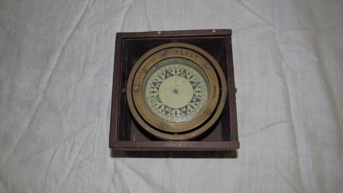 ES Ritchie Nautical Brass Compass