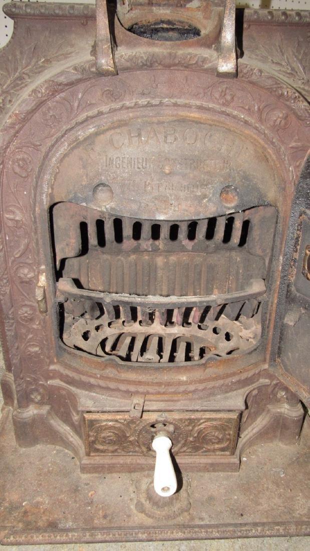 A Salamandre Cast Iron Stove Chaboche - 7