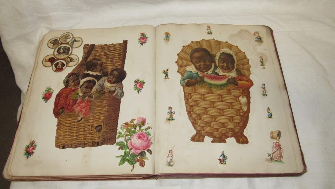 Antique Scrapbook Black Americana Advertising - 4