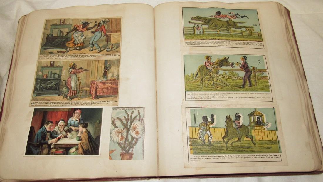 Antique Scrapbook Black Americana Advertising - 9