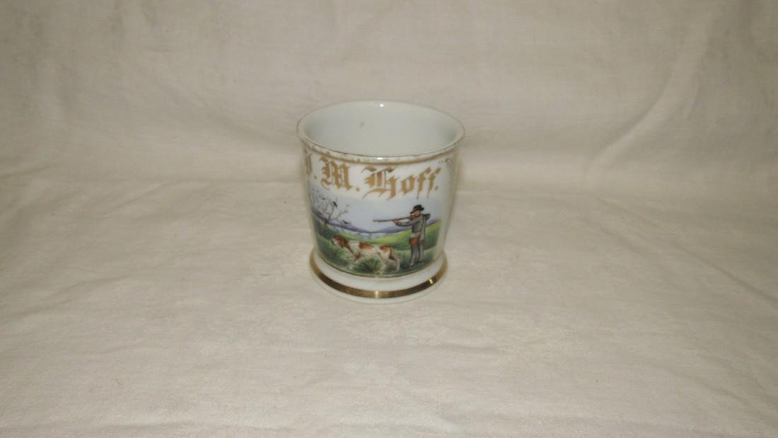 JM Hoff Bird Hunting Scene Shaving Mug