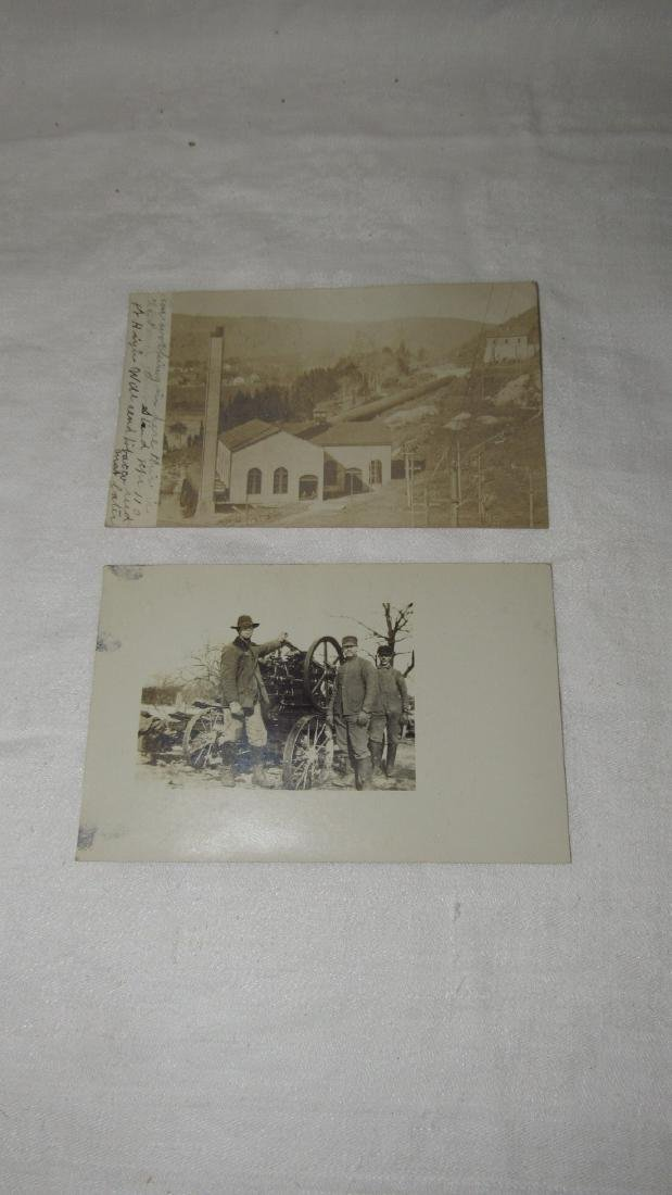2 Photo Post Cards Hit & Miss Engine
