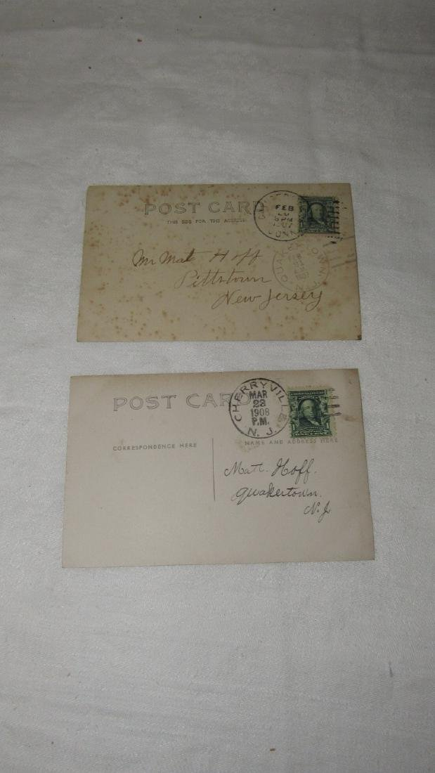 2 Photo Post Cards Hit & Miss Engine - 4