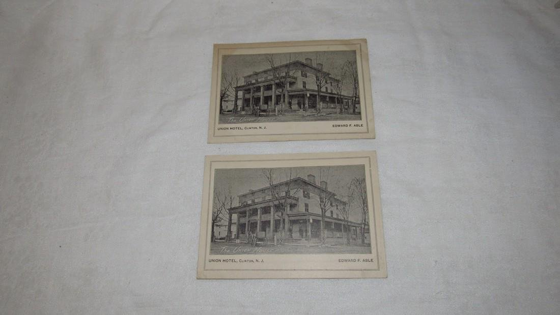 2 Clinton NJ Union Hotel Postcards