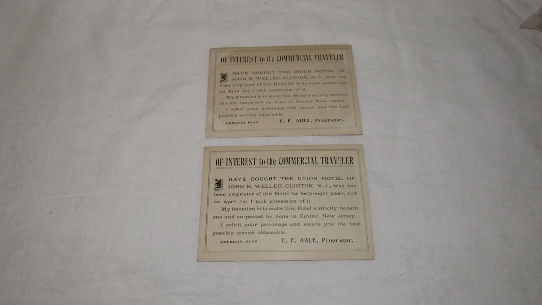 2 Clinton NJ Union Hotel Postcards - 2