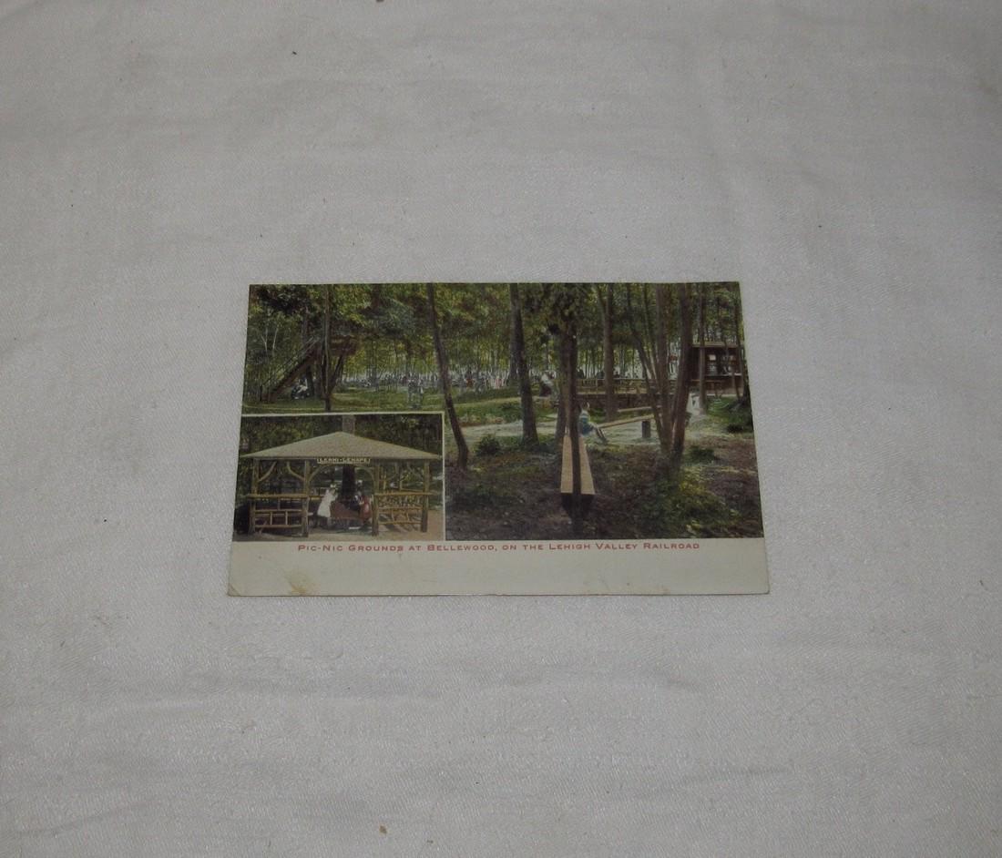 Bellwood Park Lehigh Valley Railroad Postcard