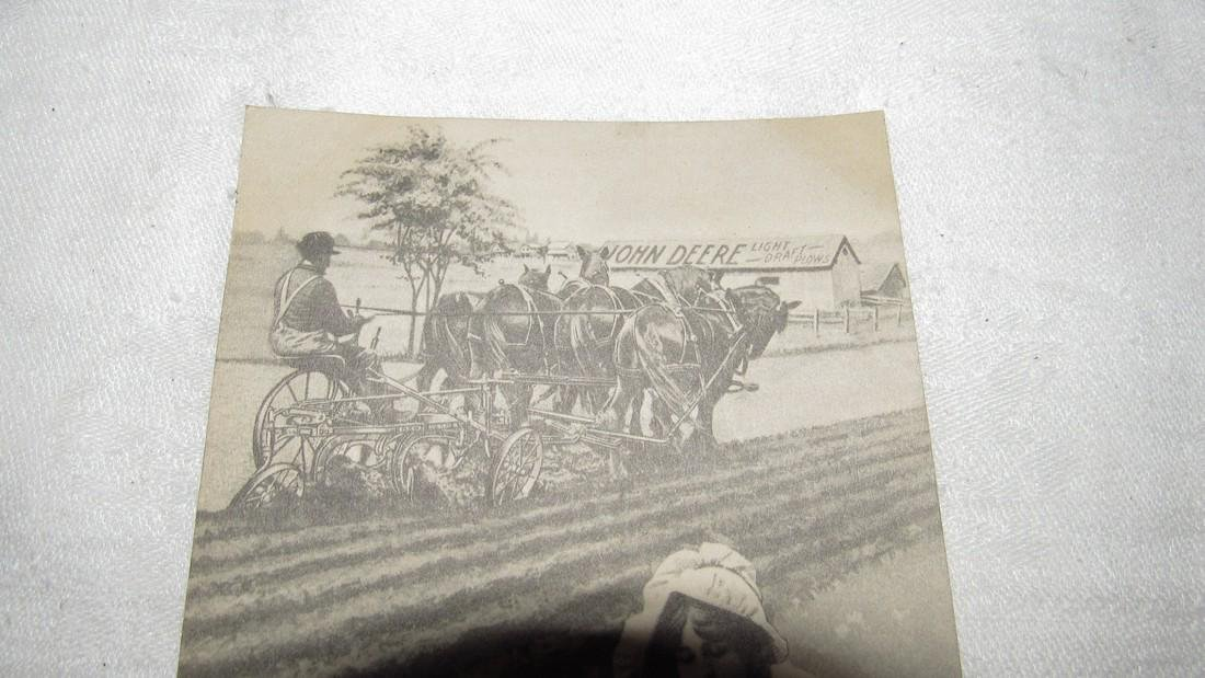 John Deere Horse Drawn Plow Postcard - 2