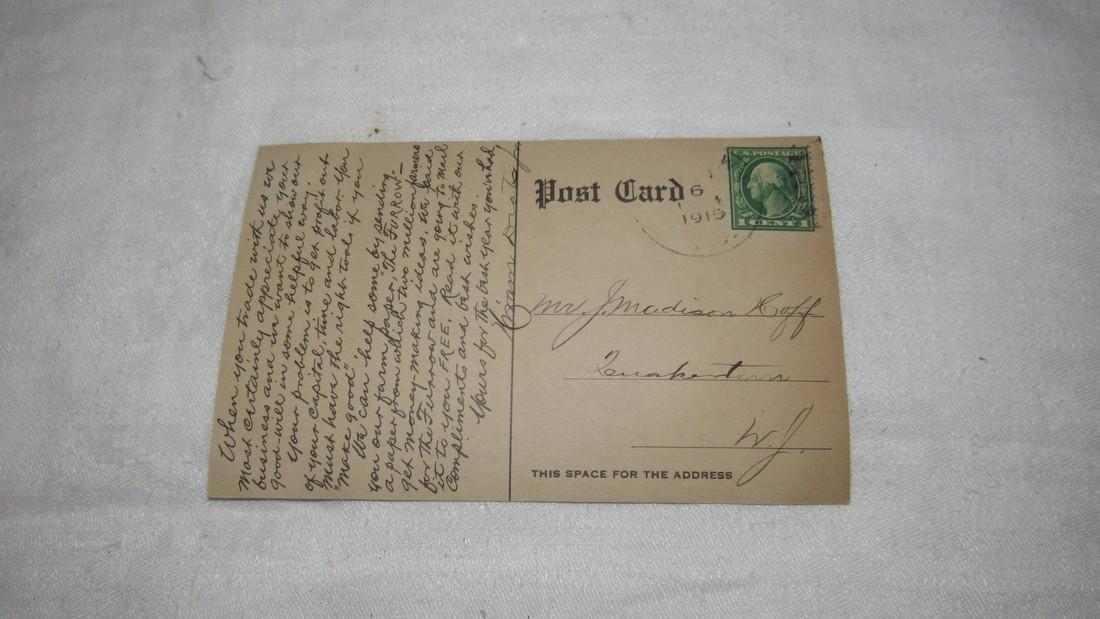 John Deere Horse Drawn Plow Postcard - 3