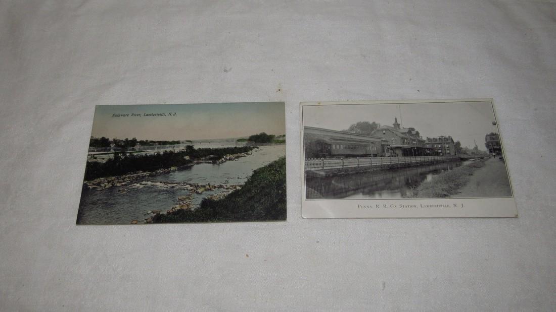 2 Lambertville NJ Postcards Railroad Station