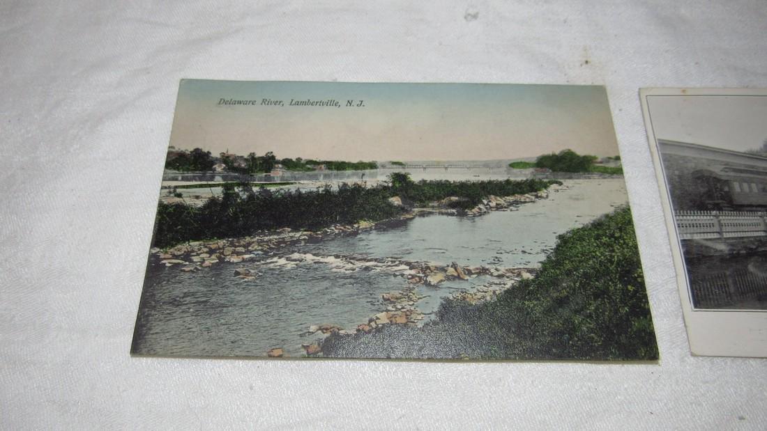 2 Lambertville NJ Postcards Railroad Station - 2