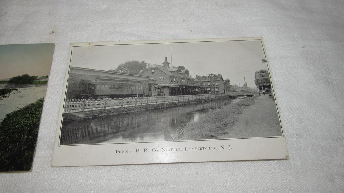 2 Lambertville NJ Postcards Railroad Station - 3