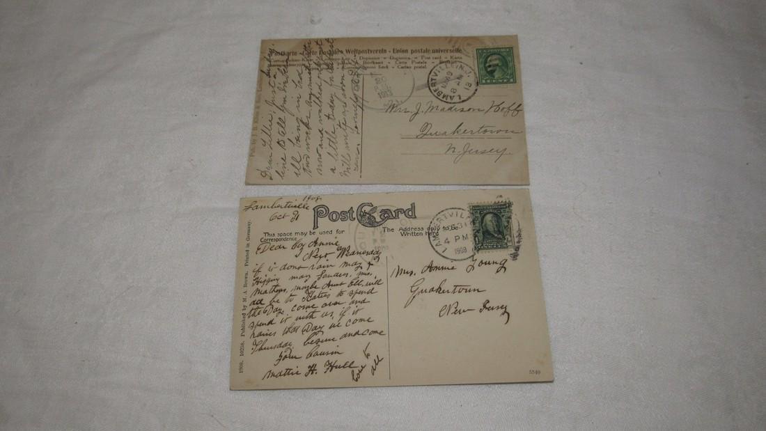 2 Lambertville NJ Postcards Railroad Station - 4