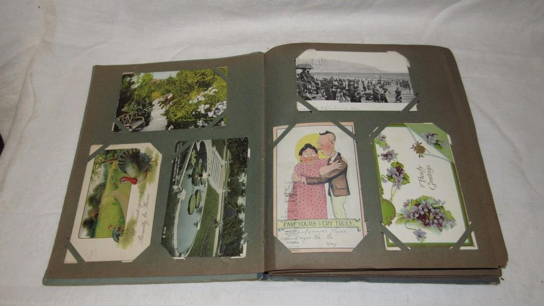 Postcard Album w/ Postcards