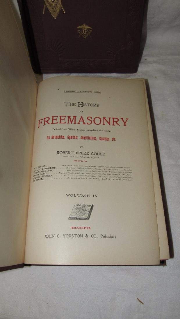 The History of Freemasonary Books Volumes 1-4 - 3