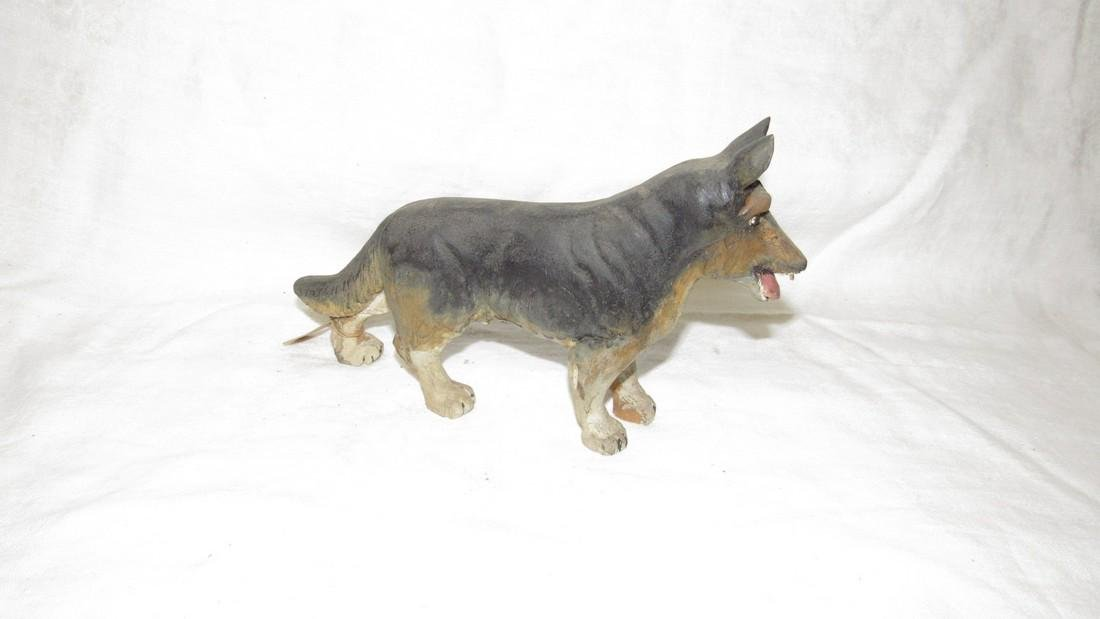 Carved Wooden German Shephard Dog