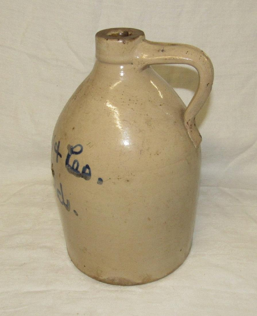 Schewer Plainfield NJ Blue Script Decorated Jug - 3