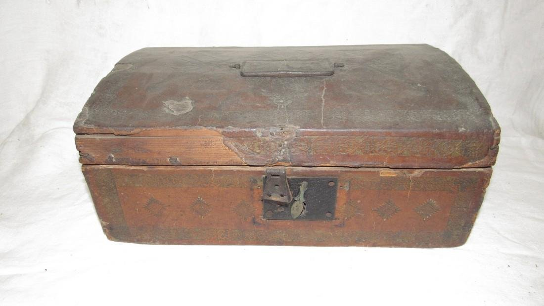 Tooled Leather Document Box