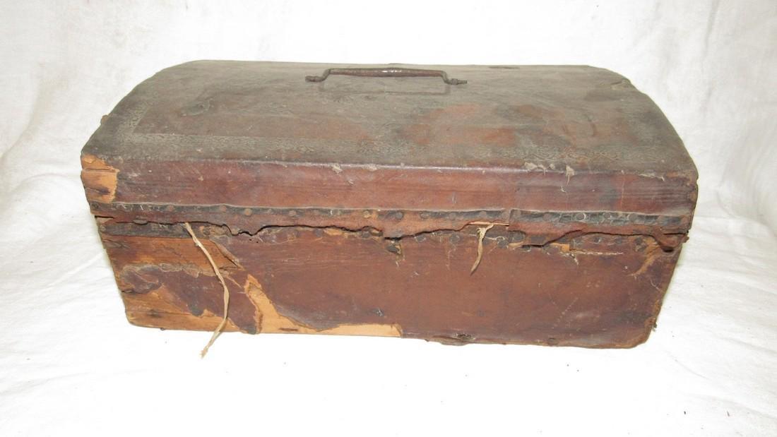 Tooled Leather Document Box - 4