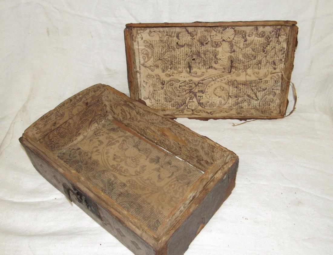 Tooled Leather Document Box - 5