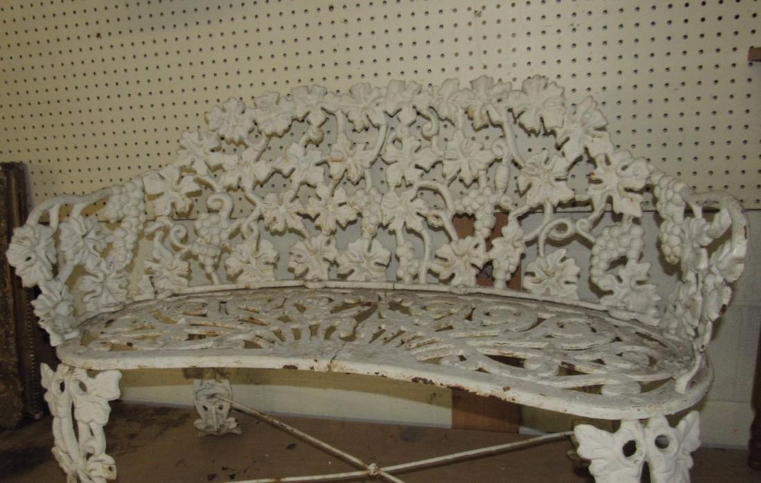 Cast Iron Garden Bench - 2