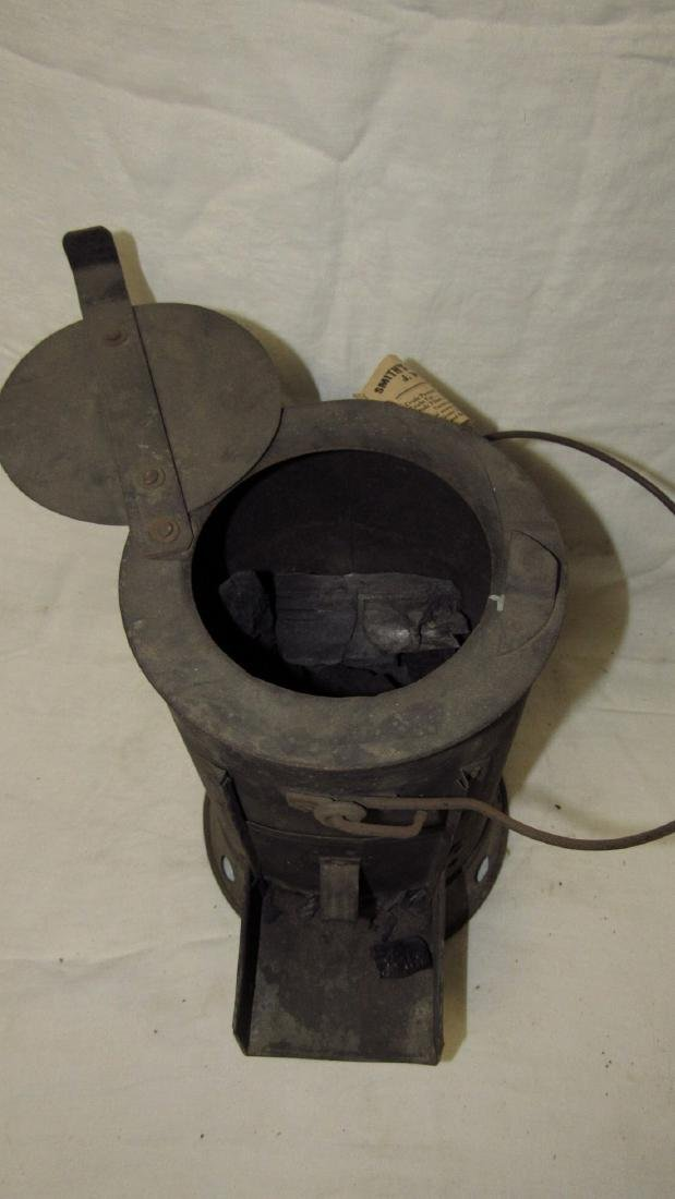 Antique Blacksmith Charcoal Heater - 5
