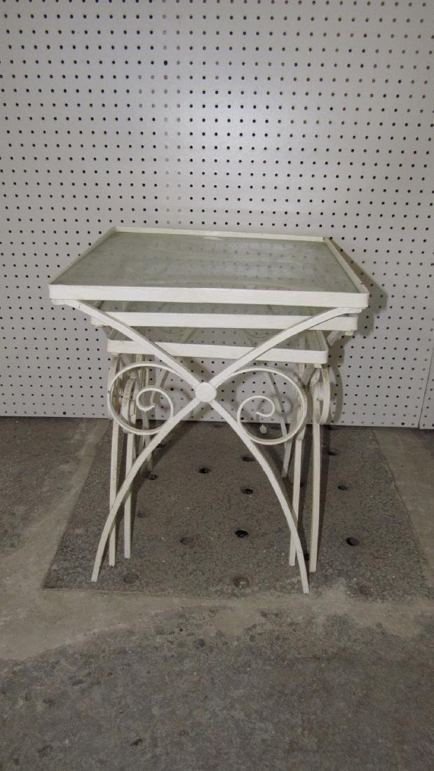 3 Stacking Cast Iron Tables