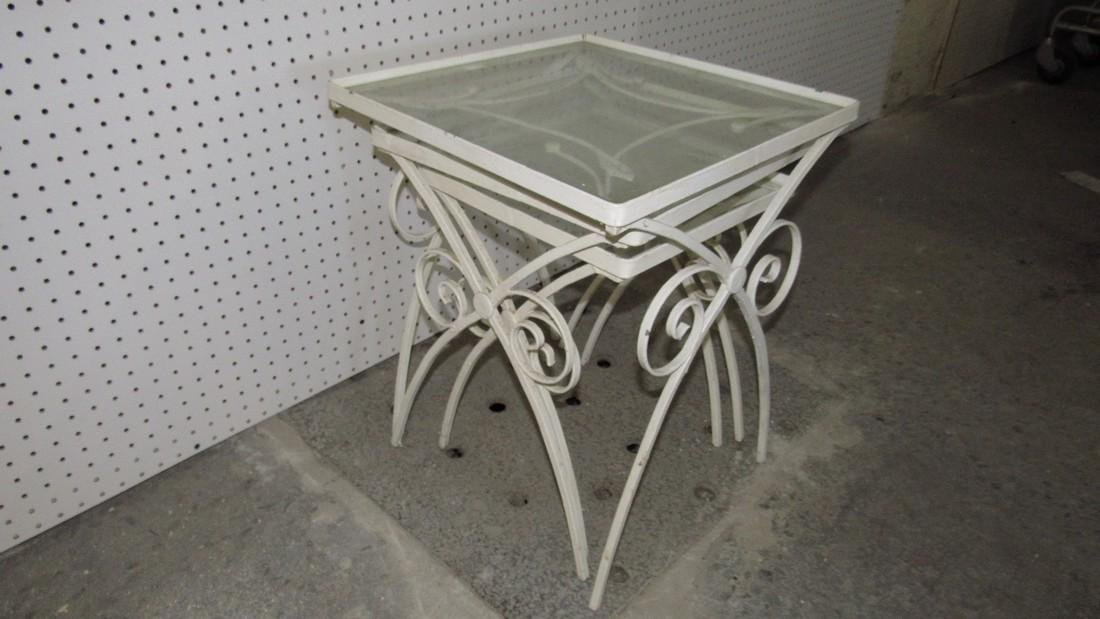 3 Stacking Cast Iron Tables - 2