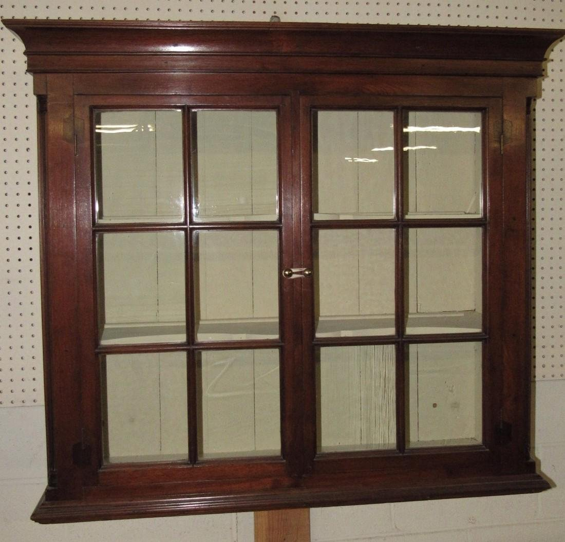 Walnut Chippendale Hanging Cupboard