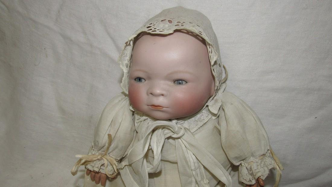 Antique Grace Putnam Bye Lo Baby Bisque Doll - 2