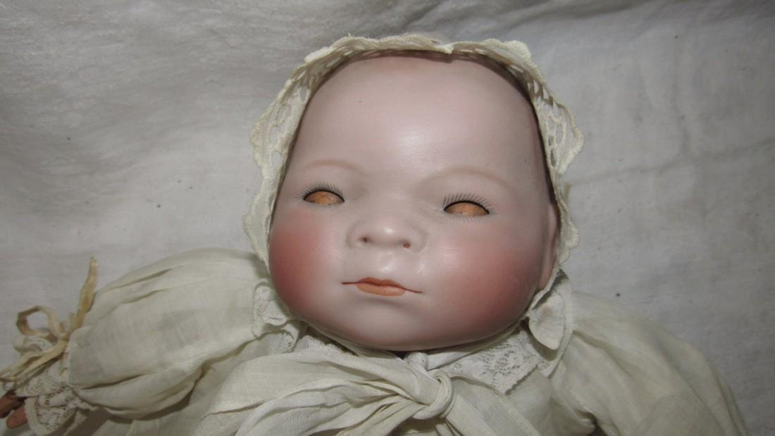 Antique Grace Putnam Bye Lo Baby Bisque Doll - 4