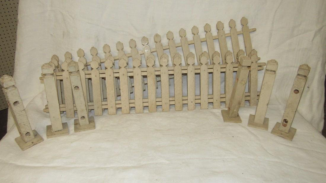 Wooden Doll Fence & Posts