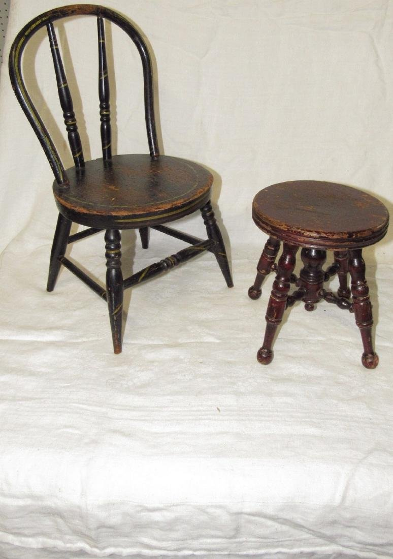 Doll Stool & Chair
