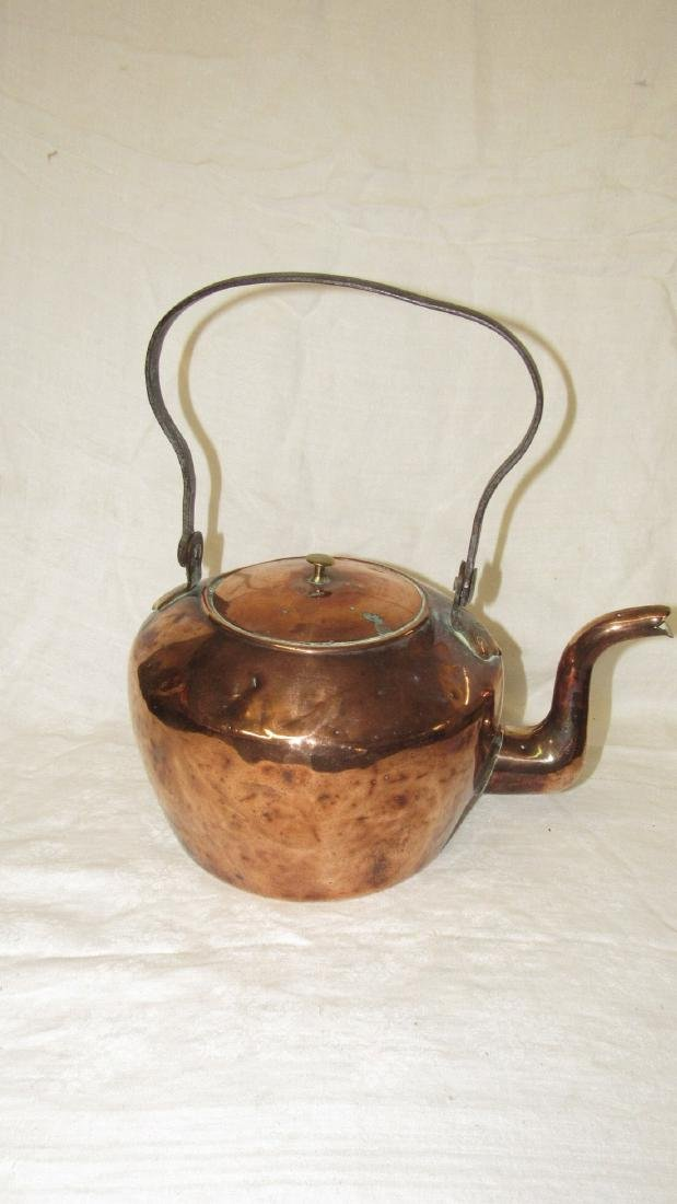 Antique Dove Tailed Copper Goose Neck Tea Pot