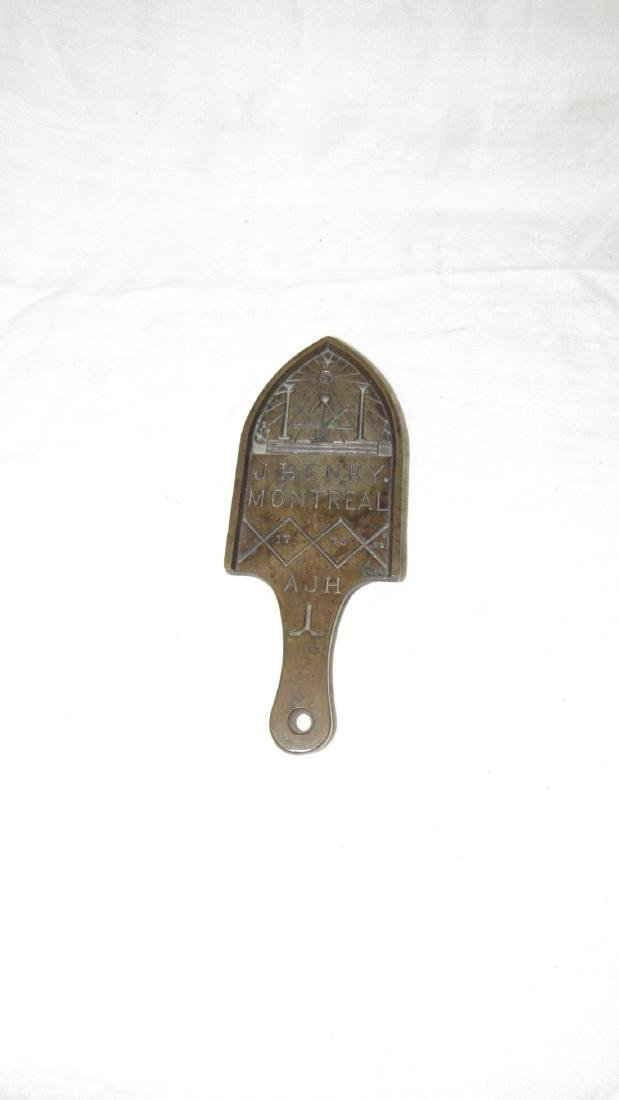 Antique John Henry Masonic Brass Trivet