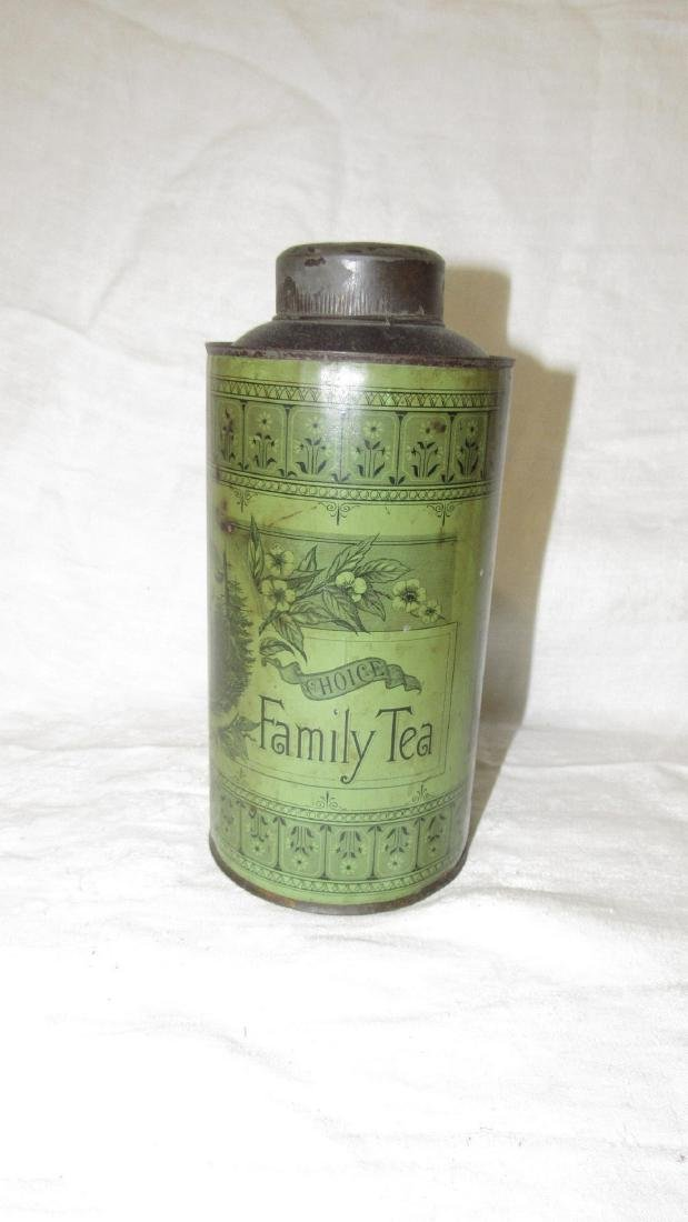 Fulper Flemington NJ Choice Family Tea Tin