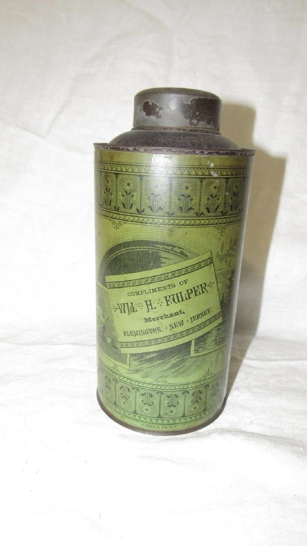 Fulper Flemington NJ Choice Family Tea Tin - 2