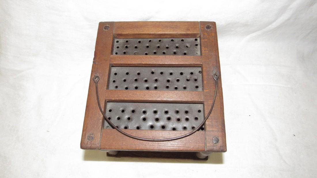 Pierced Tin Foot Warmer - 2