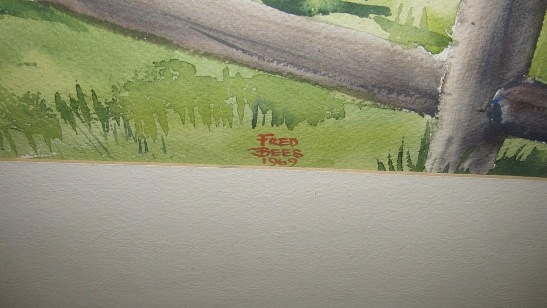 Fred Bees Northampton Co. PA Watercolor - 3