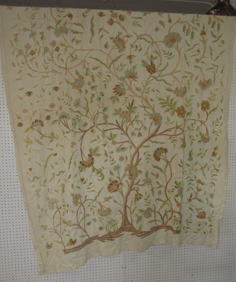 Tree Of Life Embriodered Bedspread